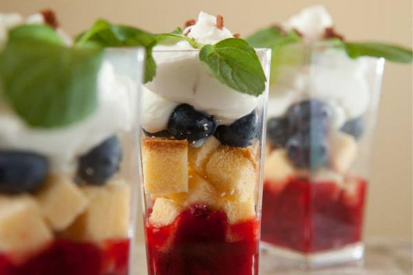 Shortcake dessert closeup