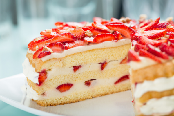 Strawberry shortcake at a desert only event
