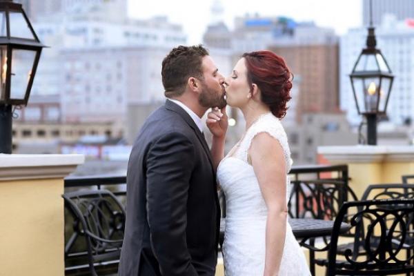 Messina's Rooftop Wedding couple