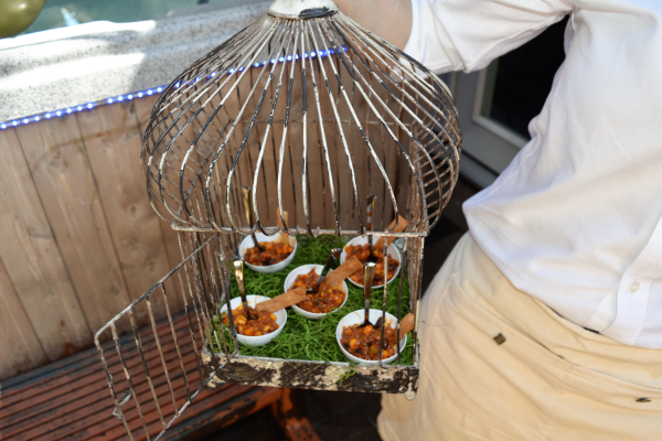 Messina's bird cage appetizer display
