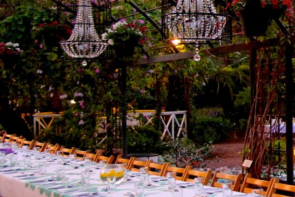 Messina's outdoor garden party theme