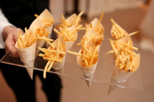 cones of fresh hot fries