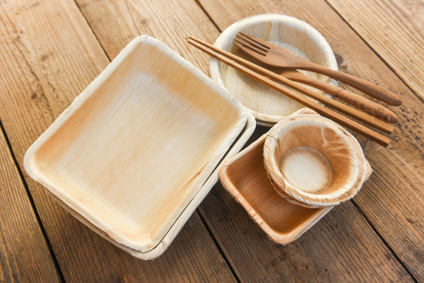 bamboo catering disposable dinnerware