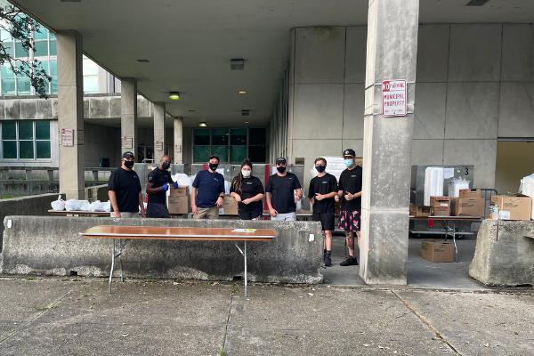 Messina's team feeding first responders after Hurricane Ida
