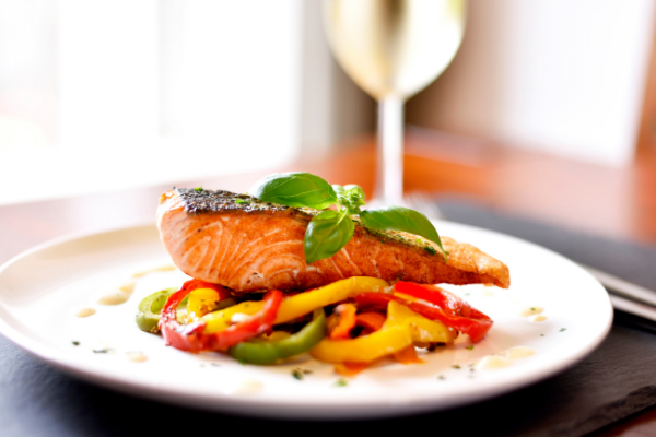 in-home catering perfect salmon